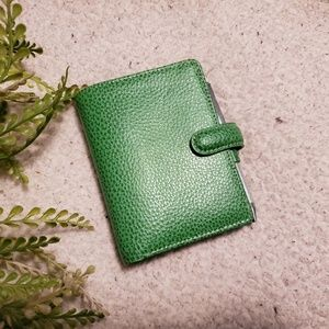FiloFax | Mini Finsbury | Green | Leather | EUC!